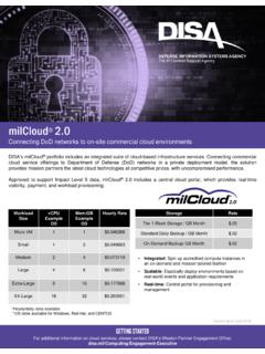 milCloud 2 - Defense Information Systems Agency