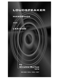 Loudspeaker Handbook and Lexicon - Direct Acoustics