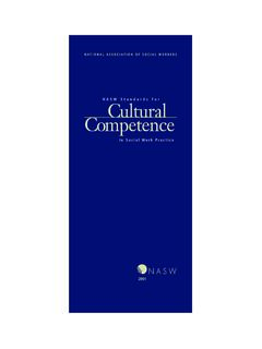 NASW Standards for Cultural Competence