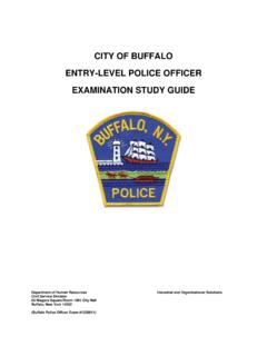 CITY OF BUFFALO ENTRY-LEVEL POLICE OFFICER …