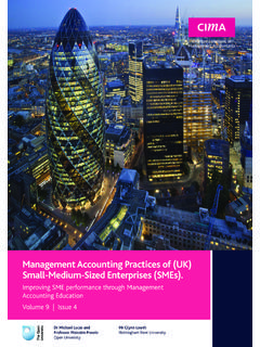 Management Accounting Practices of (UK) Small-Medium …