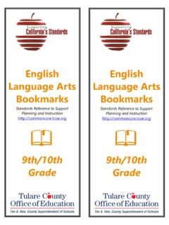 9 - 10 Grade –Reading Standards for Literature 9 - 10 ...