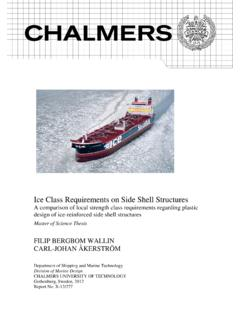 Ice Class Requirements on Side Shell Structures