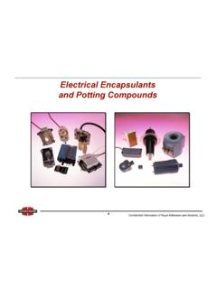 Electrical Encapsulants and Potting Compounds Royal ...