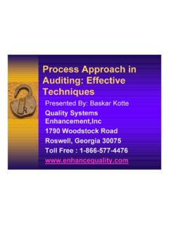 Presentation: Process Approach in Auditing: Effective ...