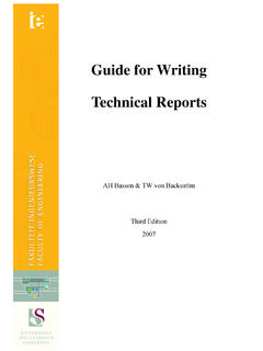 Guide for Writing Technical Reports - Stellenbosch University