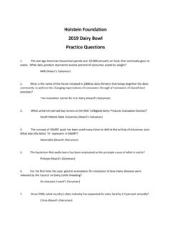 2019 Dairy Bowl Practice Questions - holsteinfoundation.org