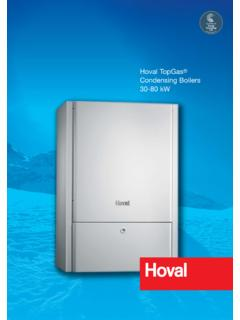 Hoval TopGas Condensing Boilers 30-80 kW