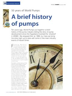 World Pumps 50 Years - Plad
