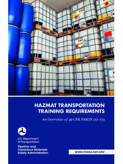 Hazmat Transportation Training Requirements - …