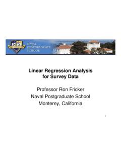Linear Regression Analysis for Survey Data