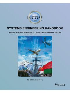 INCOSE Systems Engineering Handbook: A Guide for System ...