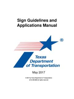 Sign Guidelines and Applications Manual (SMK)