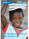Girls' education: towards a better future for all