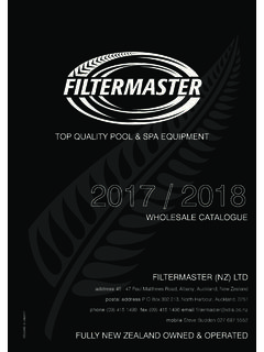 WHOLESALE CATALOGUE - FILTERMASTER