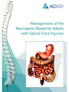 Management of the Neurogenic Bowel for Adults with …