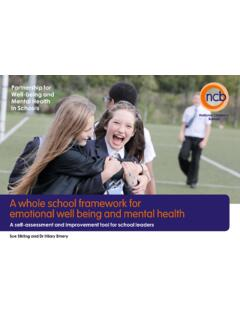 A whole school framework for emotional well being and ...