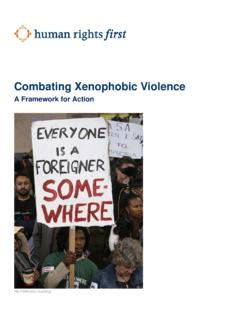 Combating Xenophobic Violence - Human Rights First