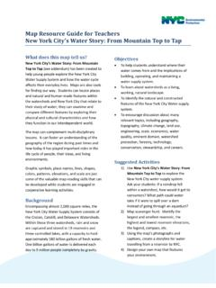 Map Resource Guide for Teachers New York City's Water ...