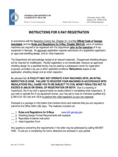 X-RAY Registration Instructions & Application