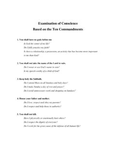 Examination of Conscience Based on the Ten …