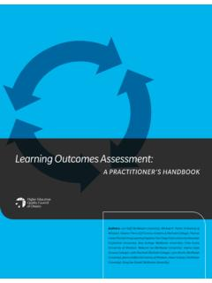 Learning Outcomes Assessment - HEQCO
