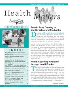 lAskA Are Health Matters - Home, Department of ...