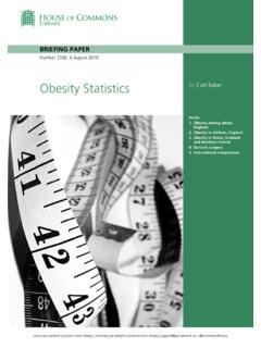 Obesity Statistics By Carl Baker