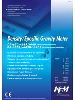Density/Specific Gravity Meter - kyoto-kem.com