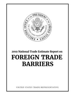 2019 National Trade Estimate Report on FOREIGN TRADE …