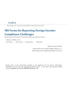 IRS Forms for Reporting Foreign Income: …