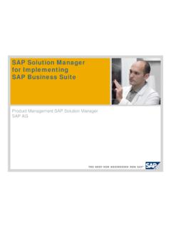 SAP Solution Manager for Implementing SAP Business Suite