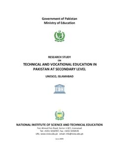 ON TECHNICAL AND VOCATIONAL EDUCATION IN …