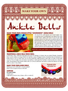MAKE YOUR OWN Ankle Bells - dariamusic.com
