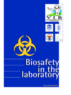 Biosafety in the laboratory - VIB