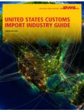 UNITED STATES CUSTOMS IMPORT INDUSTRY …
