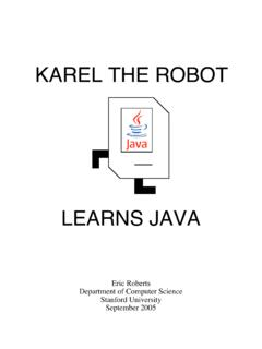 KAREL THE ROBOT - Stanford Computer Science