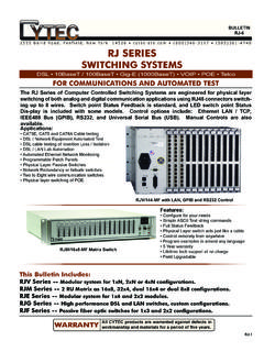 RJ SERIES - Cytec Switching Systems
