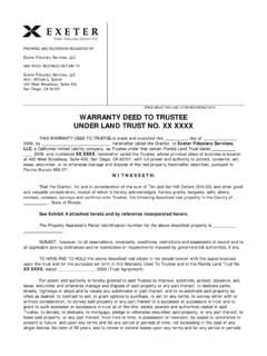 Florida Warranty Deed to Trustee for Florida Land Trust