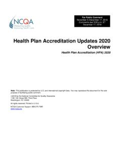Health Plan Accreditation 2020 and Health Plan Ratings ...