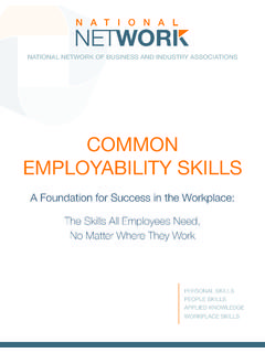 COMMON EMPLOYABILITY SKILLS - National Network