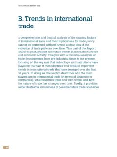 B. Trends in international trade - World Trade Organization