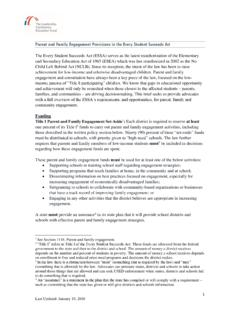 Parent and Family Engagement Provisions in the Every ...