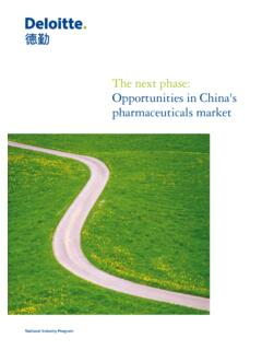 The next phase: Opportunities in China's pharmaceuticals ...