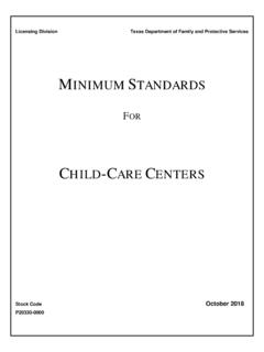 Minimum Standards for Child-Care Centers
