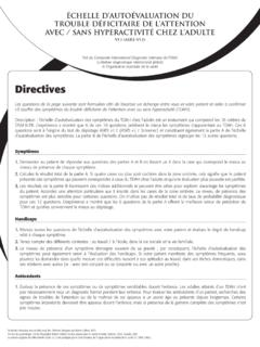 Directives - attentiondeficit-info.com