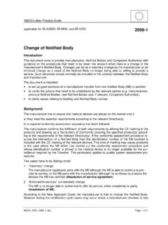 Change of Notified Body - NBOG