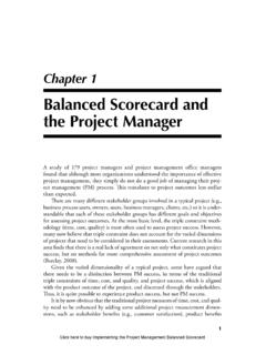 Balanced Scorecard and the Project Manager - IT …