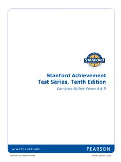 Stanford Achievement Test Series, Tenth Edition