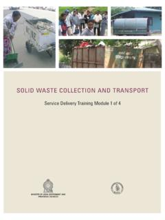 SOLID WASTE COLLECTION AND TRANSPORT - The Asia …